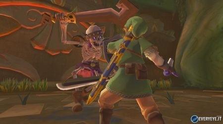 Zelda Skyward Sword combattimento