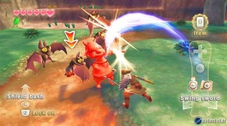 Zelda Skyward Sword battaglia corpo a corpo