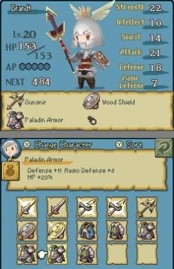 Final Fantasy The 4 Heroes of Light personalizzazione p