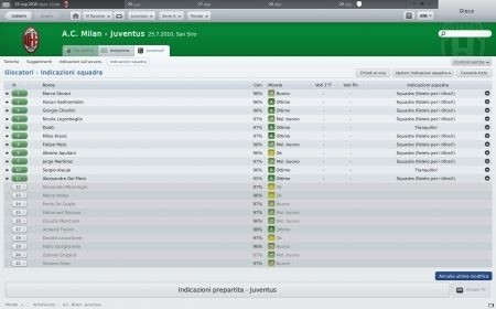 Football Manager 2011: squadra
