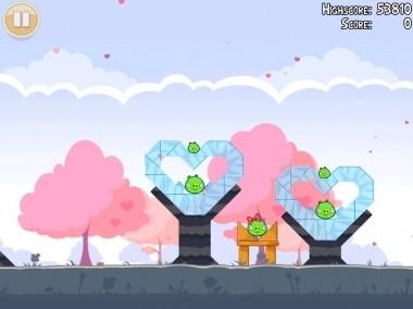 Angry Birds San Valentino: cuori