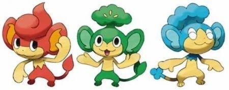 scimmie pokemon bianco e nero
