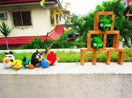 Angry Birds anche all'uncinetto
