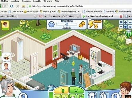 The Sims Social: simulazione