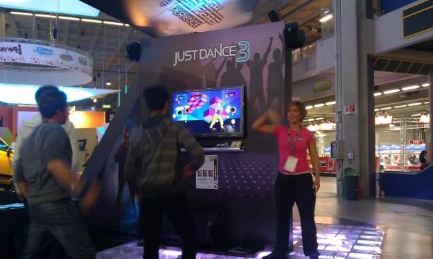 I giochi di Ubisoft nell'apposito stand alla Games Week 2011