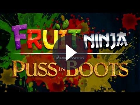 Tra i giochi per iPhone, Fruit Ninja insieme a Dreamworks per Puss in Boots