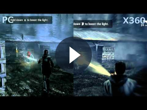 Alan Wake: un confronto in video tra la versione per PC e quella su Xbox 360