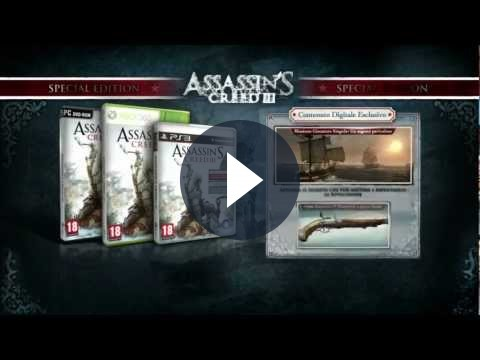 Assassin's Creed 3: le edizioni speciali del gioco [VIDEO]